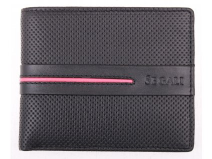 Pánská kožená peněženka Segali 2782 Black Red
