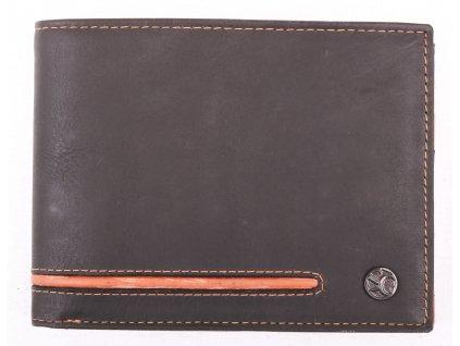 Pánská kožená peněženka Segali 7301152007 antracitově šedočerná