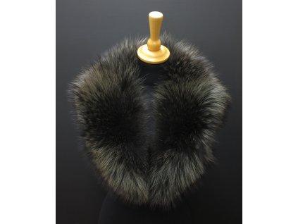 Kožešinový límec z mývalovce L290 antracitově šedočerný