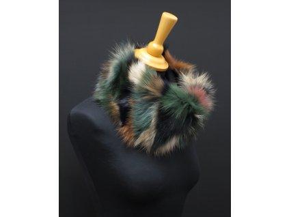 kožešinový nákrčník z lišky multicolor