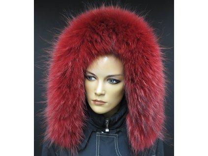 Kožešinový lem na kapuci z finského mývalovce 4085 RED
