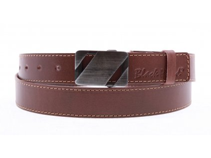 Pánský kožený opasek Black Hand 110-75 hnědý