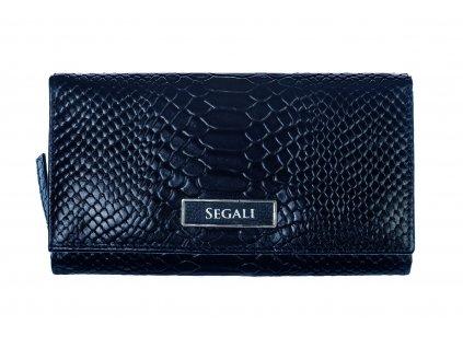 Dámská kožená peněženka Segali 910199125 tmavě modrá