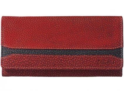 Dámská kožená peněženka Segali SG-2025A WO broušená kůže červená/černá
