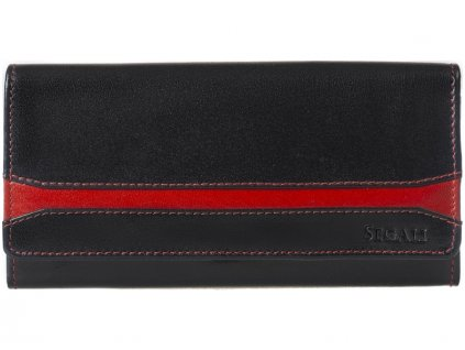 Dámská kožená peněženka Segali SG-2025A černá / červená