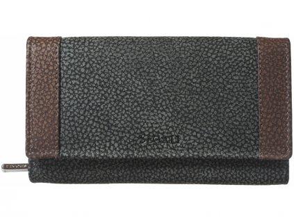 Dámská kožená peněženka Segali SG61288 WO černá / hnědá