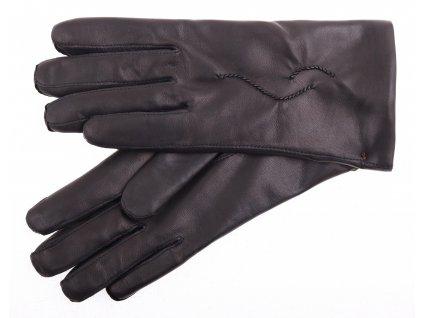 Dámské kožené rukavice 4230 černé - podšívka kašmír