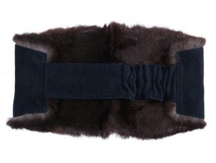 Ledvinový pás kožešinový LP122 velikost M králík 85 - 105 cm