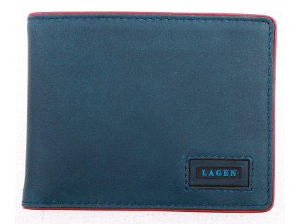 Pánská kožená peněženka Lagen 50043 Blue Red