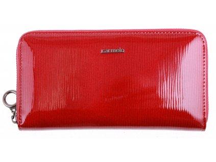 Velká dámská kožená peněženka Carmelo 2111F vínově červená