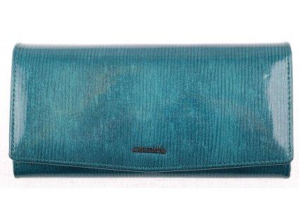 Velká dámská kožená peněženka Carmelo 2109F akvamarínová