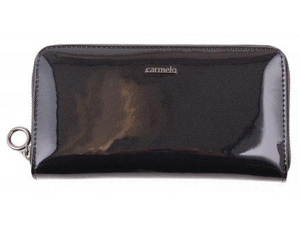 Velká dámská kožená peněženka Carmelo 2111G antracitová