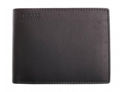 Pánská kožená peněženka Segali W-81089 černá