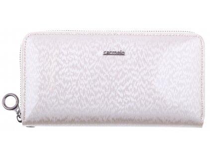 Velká dámská kožená peněženka Carmelo 2102H krémová