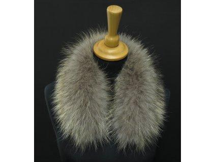 Krátká kožešina na kapuci z mývalovce 6057 NATUR - 50 cm KRÁTKÝ 2. JAKOST
