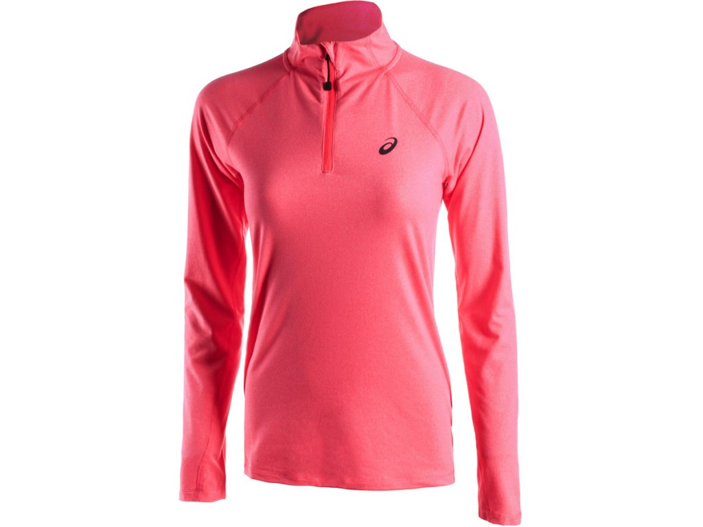 Běžecké triko ASICS 1/2 zip W pink