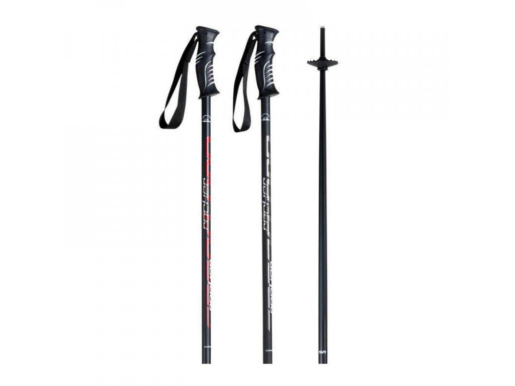 Hůl lyžařská KOMPERDELL SPEED ROCKER antracit/whi/silver