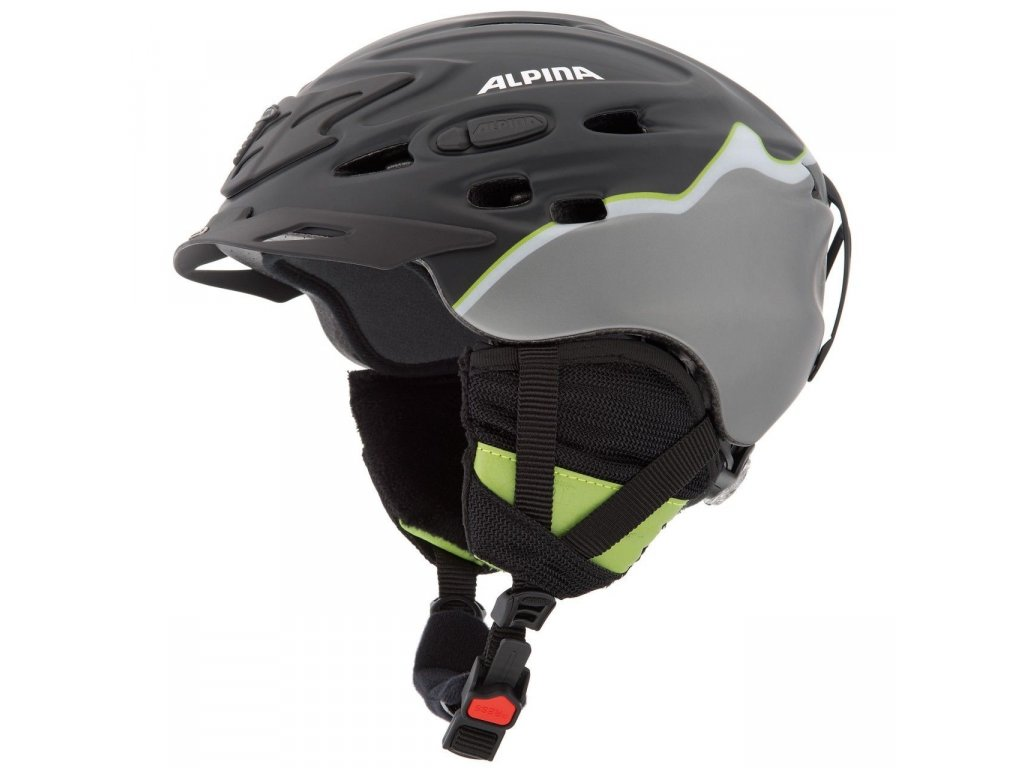 Helma ALPINA SCARA LE black/green matt