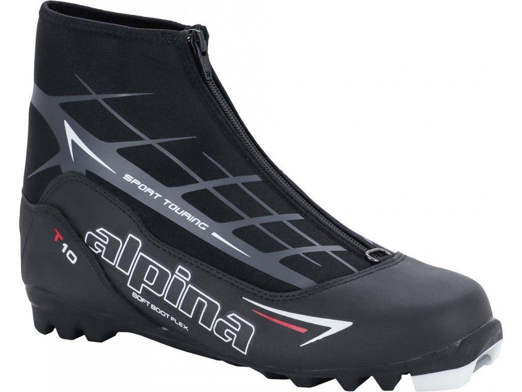 Boty běžky ALPINA T 10 - black/red