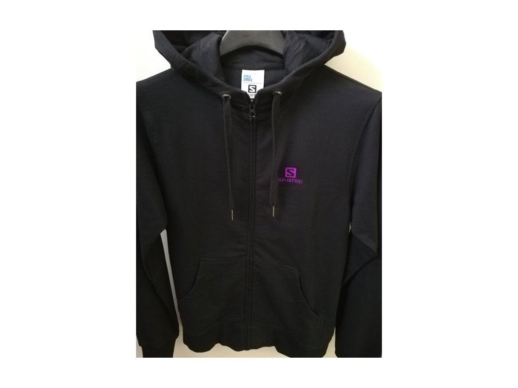 Mikina SALOMON THE WAY HOODIE FZ W black