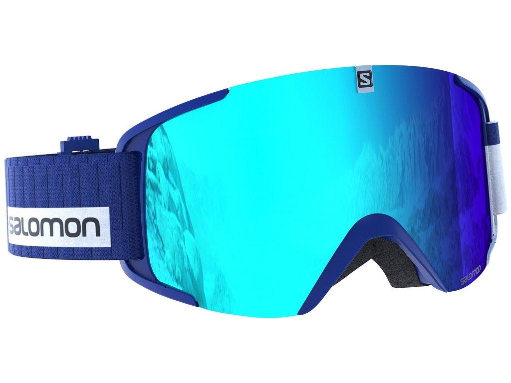 Brýle lyžařské SALOMON XVIEW -blue-white-lo-ligh-blue