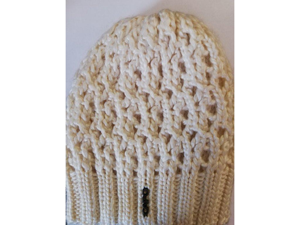 Čepice CAPO 122-609 wide-meshed ecru