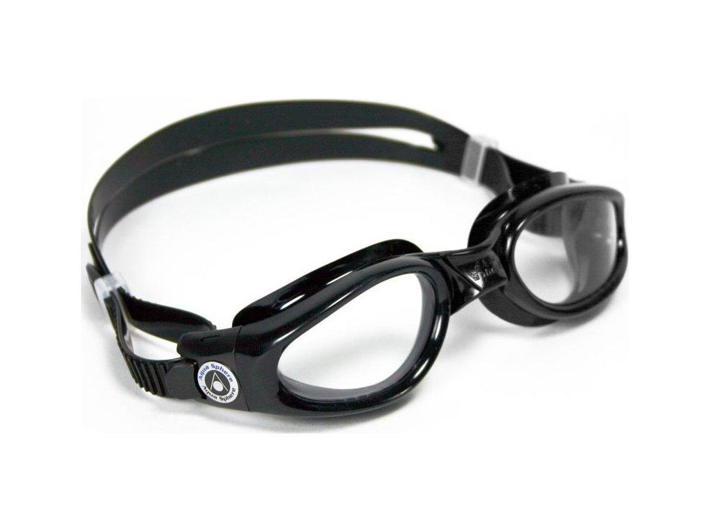 Plavec. brýle AQUA SPHERE KAIMAN lens clear schwarz