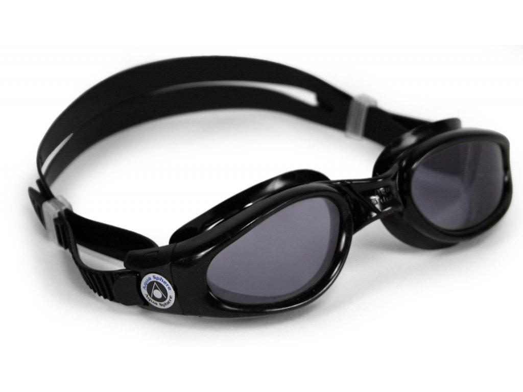 Plavec. brýle AQUA SPHERE KAIMAN lens dark black/grey