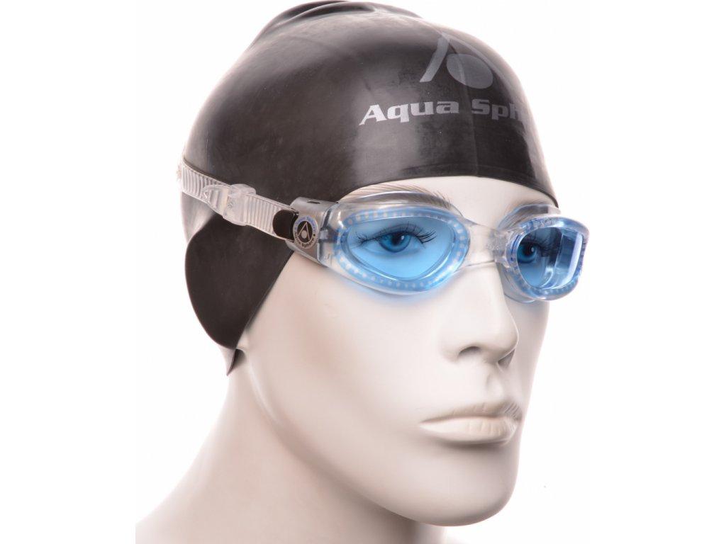 Plavec. brýle AQUA SPHERE KAIMAN lens dark transp/blue