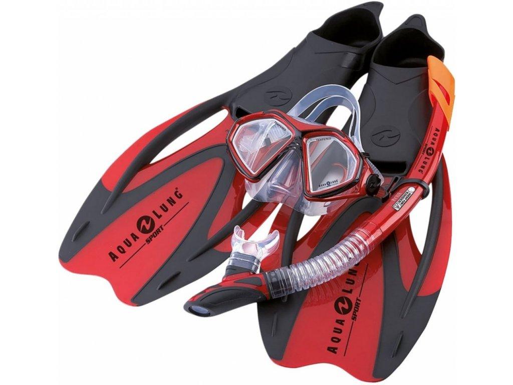 Potápečský set AQUALUNG PROFLEX X red