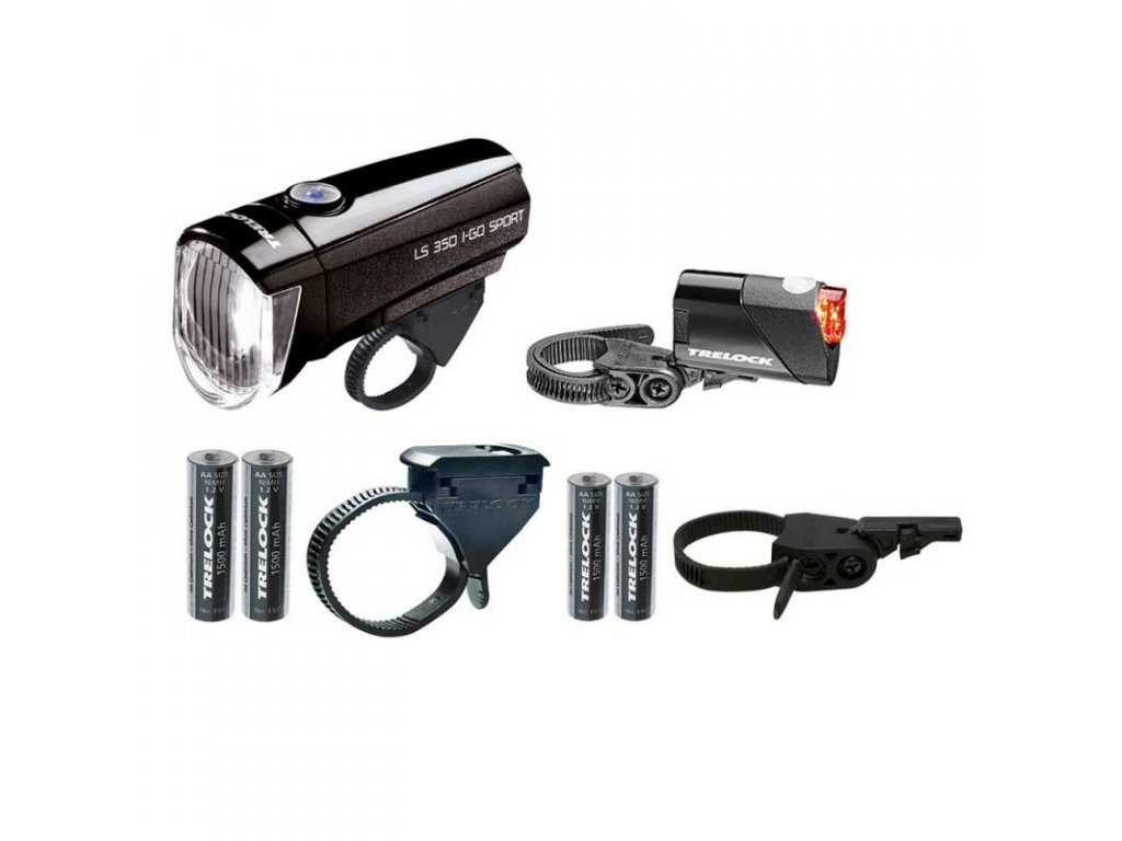 TRELOCK sada osvětlení I-Go Sport LS 350/LS 710 kombi black