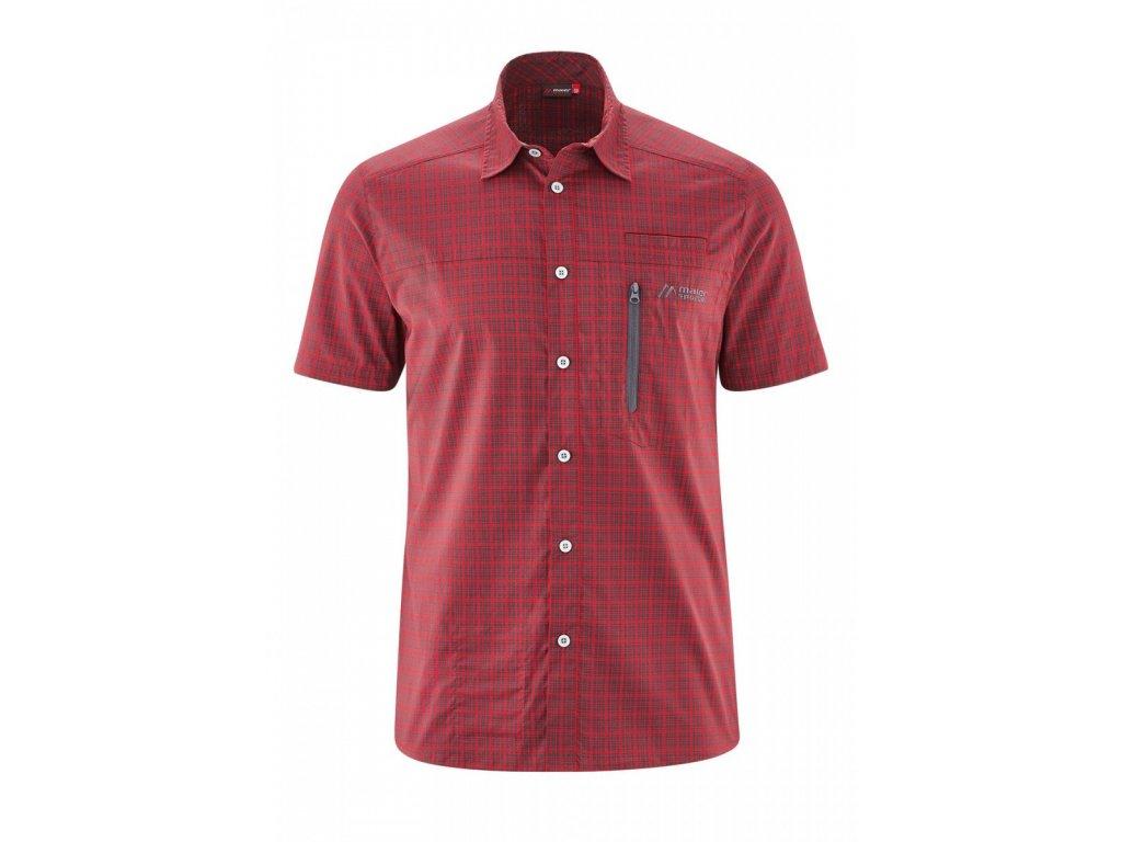 Košile MAIER SPORTS MATS S/S black/red 2020