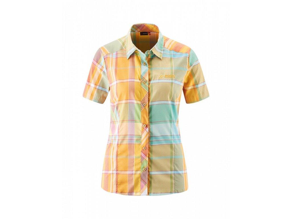 Košile MAIER SPORTS SANA S/S orange/green 2020