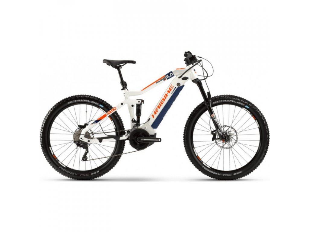 Elektrokolo Haibike Sduro FullSeven LT 5.0 2020 white/black/orange