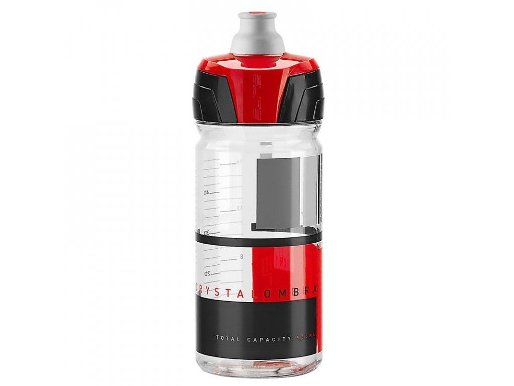 ELITE láhev CRYSTAL OMBRA 550 ml čirá/červená