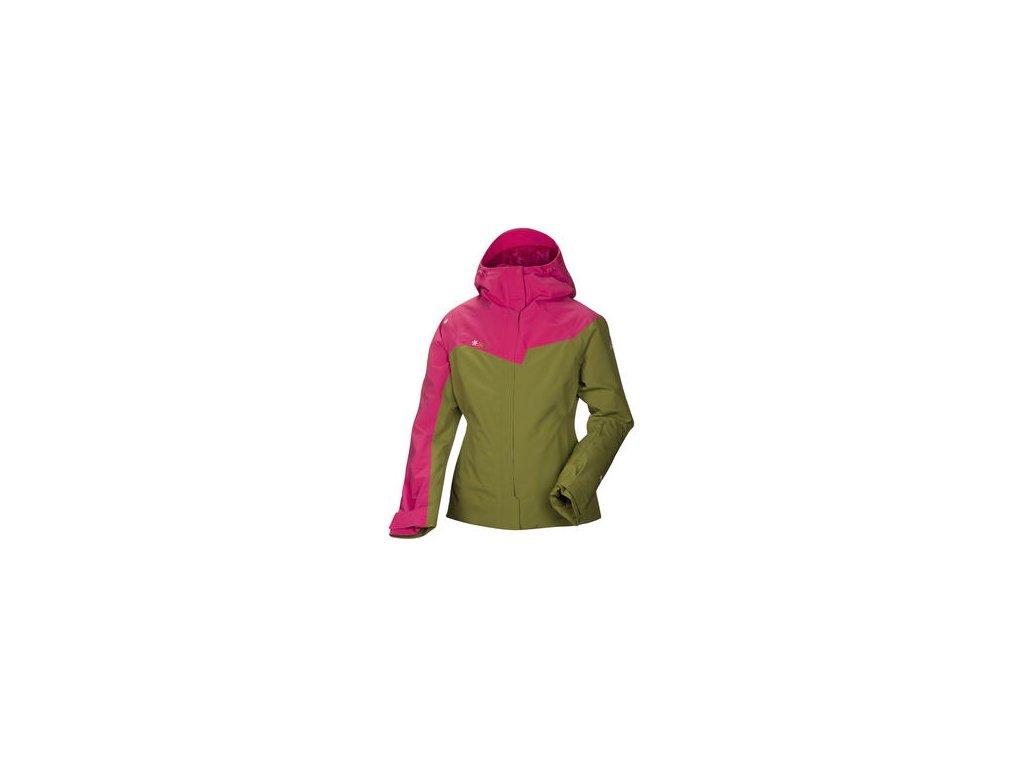 Bunda HALTI HUOMA W dámská - zelená/růžová