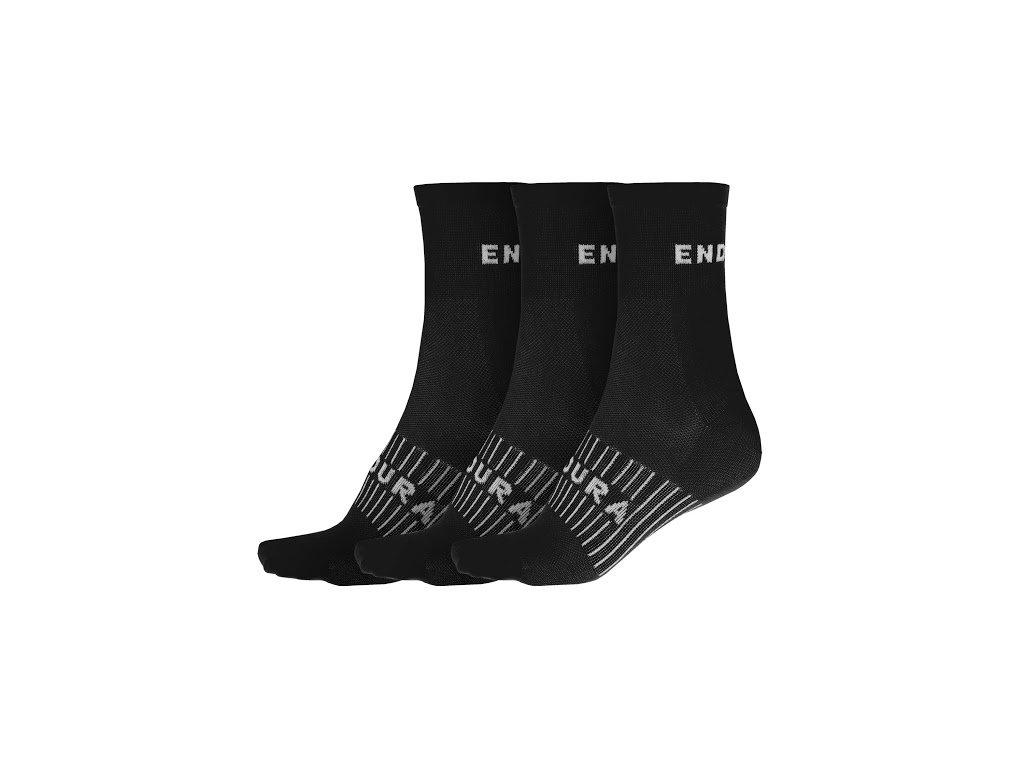 ENDURA ponožky Coolmax Race 3-P black - 2020
