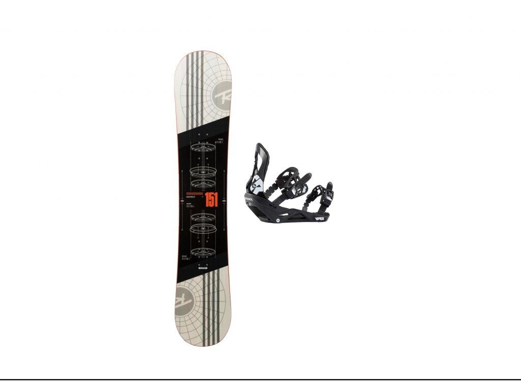 Rossignol District white (REJWP05)+Viper LTD M/L Bulk(RGH0070)-set snb