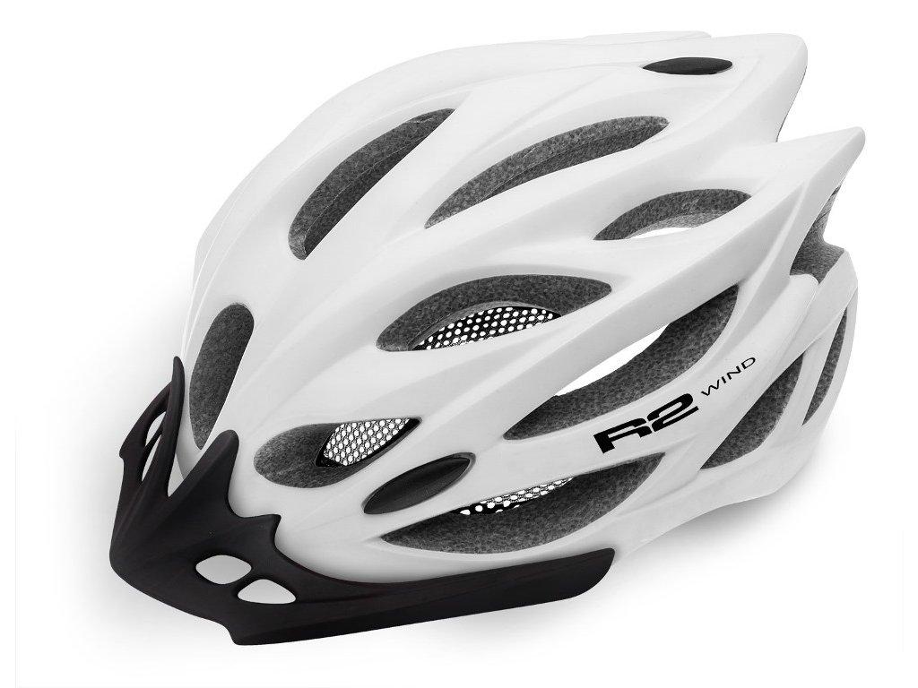 Cyklistická helma R2 WIND - bílá/matná