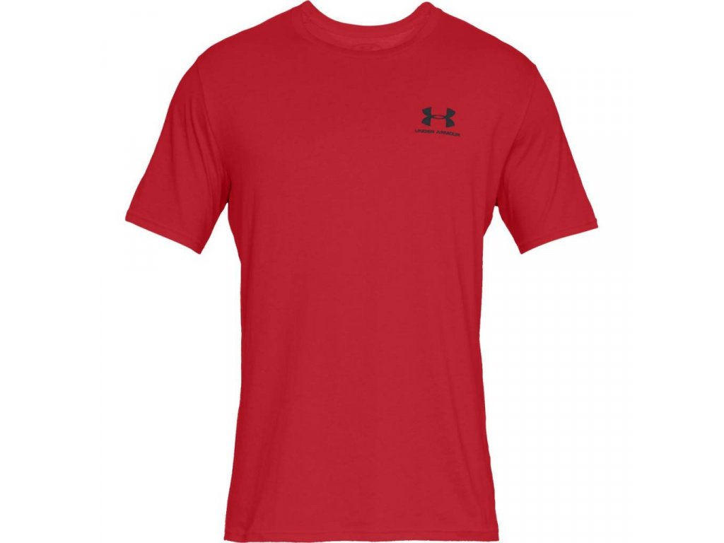 TRIKO UNDER ARMOUR - Sportstyle Left CHEST - red