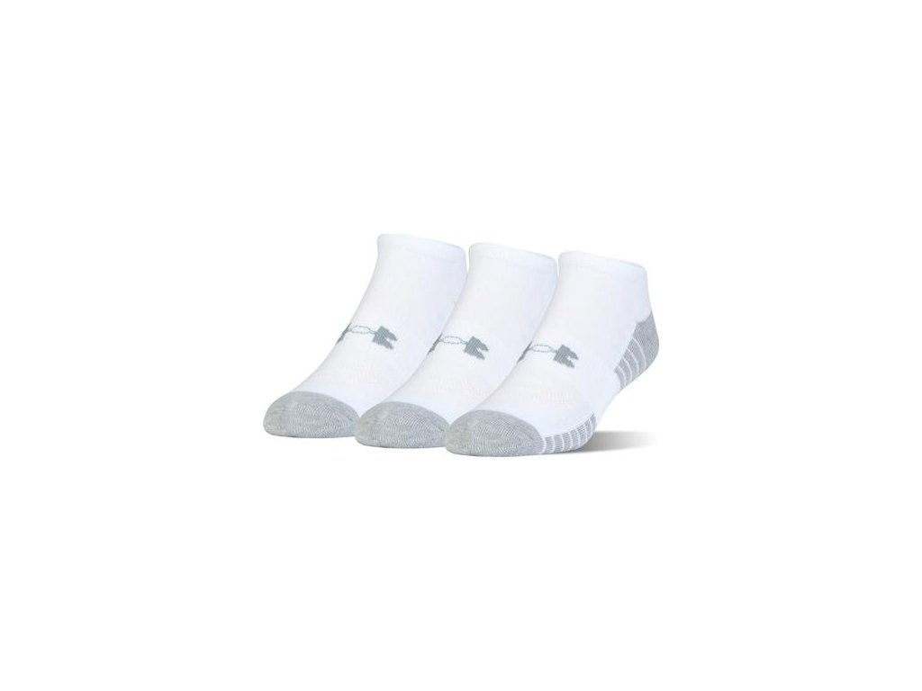 Ponožky UNDER ARMOUR - HEATGEAR NOSNOW 3pack - white