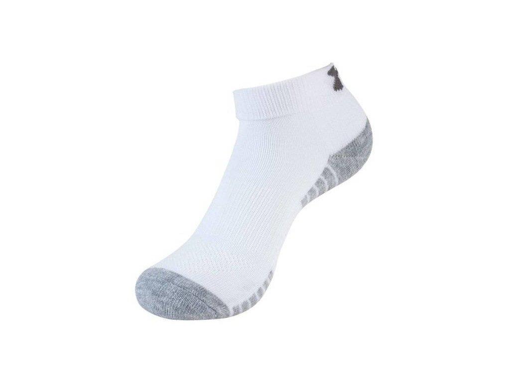 Ponožky UNDER ARMOUR - HEATGEAR LOCUT 3pack - white