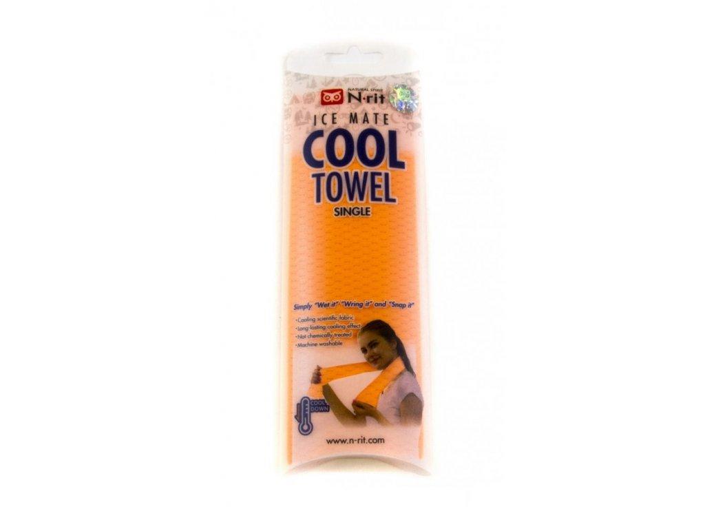 Chladivý ručník N-RIT ICEMATE COOL TOWEL SINGLE orange