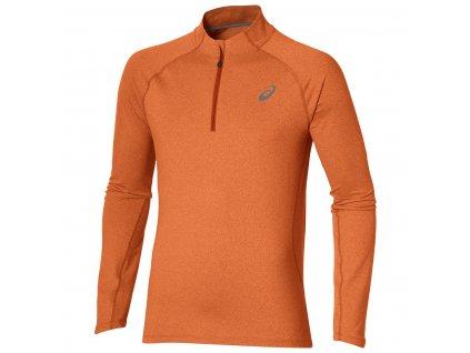 Běžecké triko ASICS 1/2 zip orange