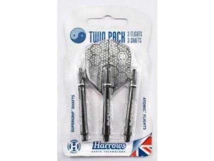 Násadky a letky Harrows TWIN Pack black/silver medium