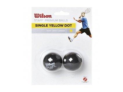 Wilson W/STAFF 2 ks žlutá - míček squash
