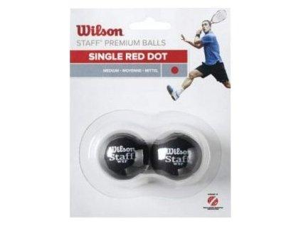 Wilson W/STAFF 2 ks červená - míček squash