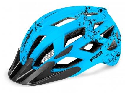 Cyklistická helma R2 LUMEN JUNIOR - modrá matná