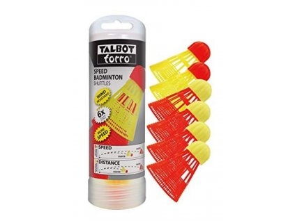 Speedbadminton míček TALBOT TORRO AEROSPEED red/yellow