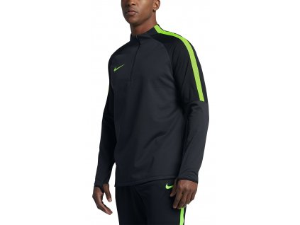 Triko NIKE SQD 1/2 zip black/green